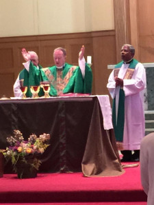 Bishop Michael Barber and Father Augustine Joseph